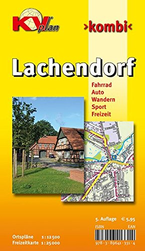Lachendorf: 1:12.500 Gemeindeplan mit Freizeitkarte 1:25.000 inkl. Radrouten, Wander- und Reitwegen (KVplan Heide-Region)