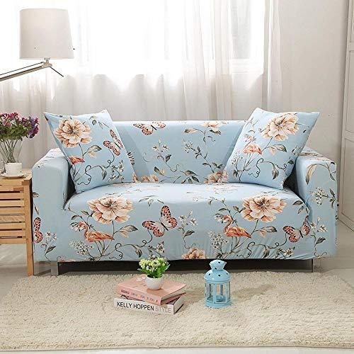 Funda de sofá Elastica,Funda de sofá de jacquard de algodón, funda de cojín de sofá antideslizante de cubierta completa, funda a prueba de polvo para muebles en primavera, verano, otoño e invierno-Qi