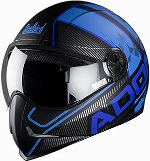 Steelbird SB-50 Adonis Majestic Matt Black with Blue with Smoke visor,600mm