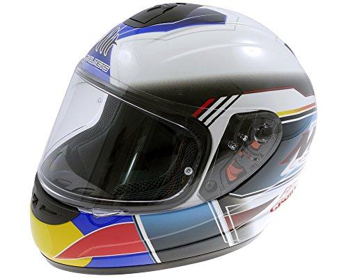 Helm MTHELMETS Thunder Kid Race&Win Weiß/blau L