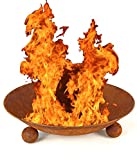 NICK and BEN Feuer-Schale 47cm Rostlook Designer Pflanz-Schale Garten-Kamin Terrassen-Ofen Feuer-Korb Feuer-Stelle Grill-Feuer