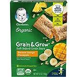 Gerber Up Age Organic Grain & Grow Soft Baked Grain Bars, 8 Count, Oz Banana Mango Pineapple 5.5 Ounce