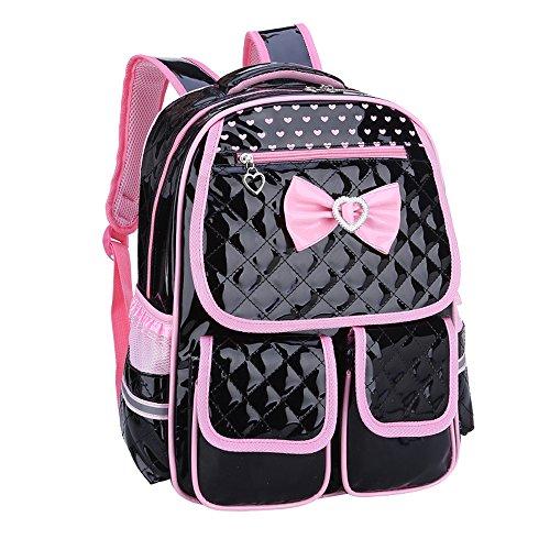 Kaxich Kinder Mädchen Rucksack Schulrucksack PU-Leder Prinzessin Stil Schultaschen Kinderrucksack für Teenage Maedchen 6-8 Jährige
