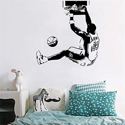 pegatinas de pared NBA Baloncesto Estrella Kobe Dunk Home Decor Dormitorio Dormitorio Dormitorio Decoración Poster