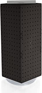 Azar 703385-BLK Interlocking Pegboard Display, 8-Inch by 8-Inch by 20-Inch, Black