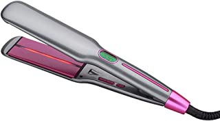 Infrared Ionic Hair Straightener, Dual Voltage 2 inch Wide Plate Ceramic Tourmaline Flat Iron, Professional LCD Digital Di...