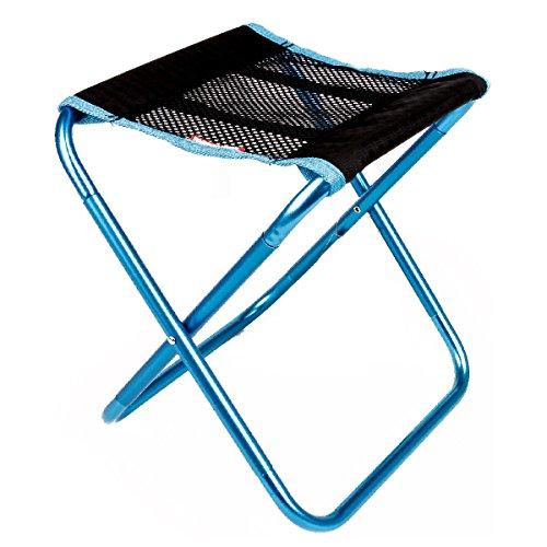 TRIWONDER Tragbare Camping Hocker Outdoor Camping Stuhl für Backpacking Wandern Angeln Reisen Garten BBQ mit Trage Sack (Blau)