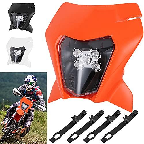 Scheinwerfer für Motorrad, Tagfahrlicht für 2018 K.T.M EXC250 SX250 SXF250 EXC450 SX350 SXF450 EXC525 640LC4 Dirt Bike, Motocross, Enduro, Supermoto, Orange