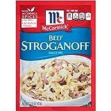 McCormick Beef Stroganoff Sauce Mix, 1.5 oz (Pack of 12)