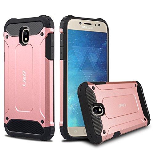 J&D Compatible para Galaxy J5 2017 Funda, [Armadura Delgada] [Doble Capa] [Protección Pesada] Híbrida Resistente Funda Protectora y Robusta para Samsung Galaxy J5 (Release in 2017) - [No p