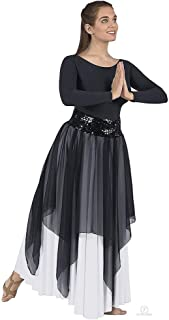 Eurotard 39768 Adult Sheer Devotion Single Layer Overlay/Sequin Belt Sold Separately