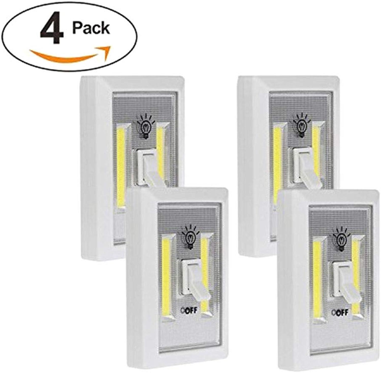 DONGBALA Schnurloses LED-Nachtlicht Wireless-Schalter Schranklicht Batteriebetriebene Magic Tapes-Magnete für Jede Stahloberflche (Batterie Nicht im Lieferumfang enthalten),4packs