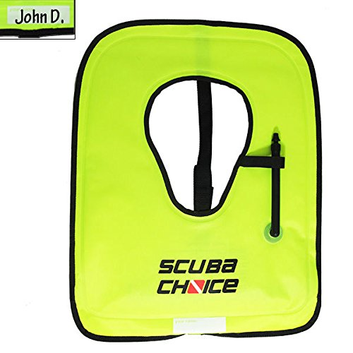 Scuba Choice Adult Neon Yellow Snorkel Vest with...
