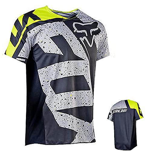 PIVOT Radfahren Jersey,MTB-Trikot Outdoor-Radsport Fahrrad Reitanzug Langarm-Shirt,Unisex Downhill-Anzug Herren Mountainbike Motocross Trikot