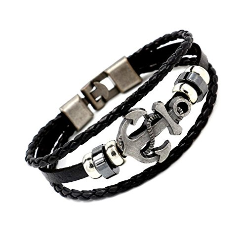 GYJUN Bracelet Bracelets en cuir Alliage / Cuir Forme Ronde Style Punk Quotidien / Décontracté Bijoux Cadeau Brun,1pc , one size