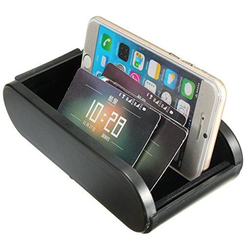 NICOLIE Caja De Almacenamiento De Coche Rollos Bolsillo De Plástico Tablero Telescópico Soporte De Monedas para Teléfono Móvil
