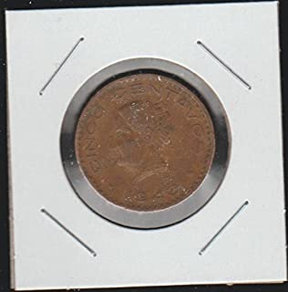 1946 Mexico National Arms, Eagle Left Nickel Choice Fine