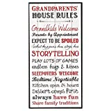 P. Graham Dunn Grandparents House Rules 12 x 6 Mounted Print Decorative Wall Art Sign Plaque
