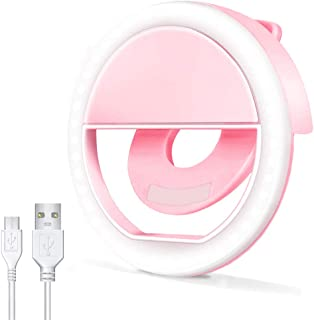 AUTOPkio Anillo de Luz Selfie, 36 LED Ring Light USB Recargable Ajustable 3 Niveles Brillo para Youtube, Tiktok, Teléfono...