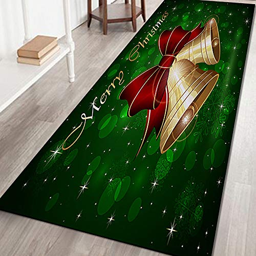 AOGOTO 2020 Merry Christmas Welcome Doormats Indoor Home Carpets Decor Beautiful Xmas Print Decoration Cushion