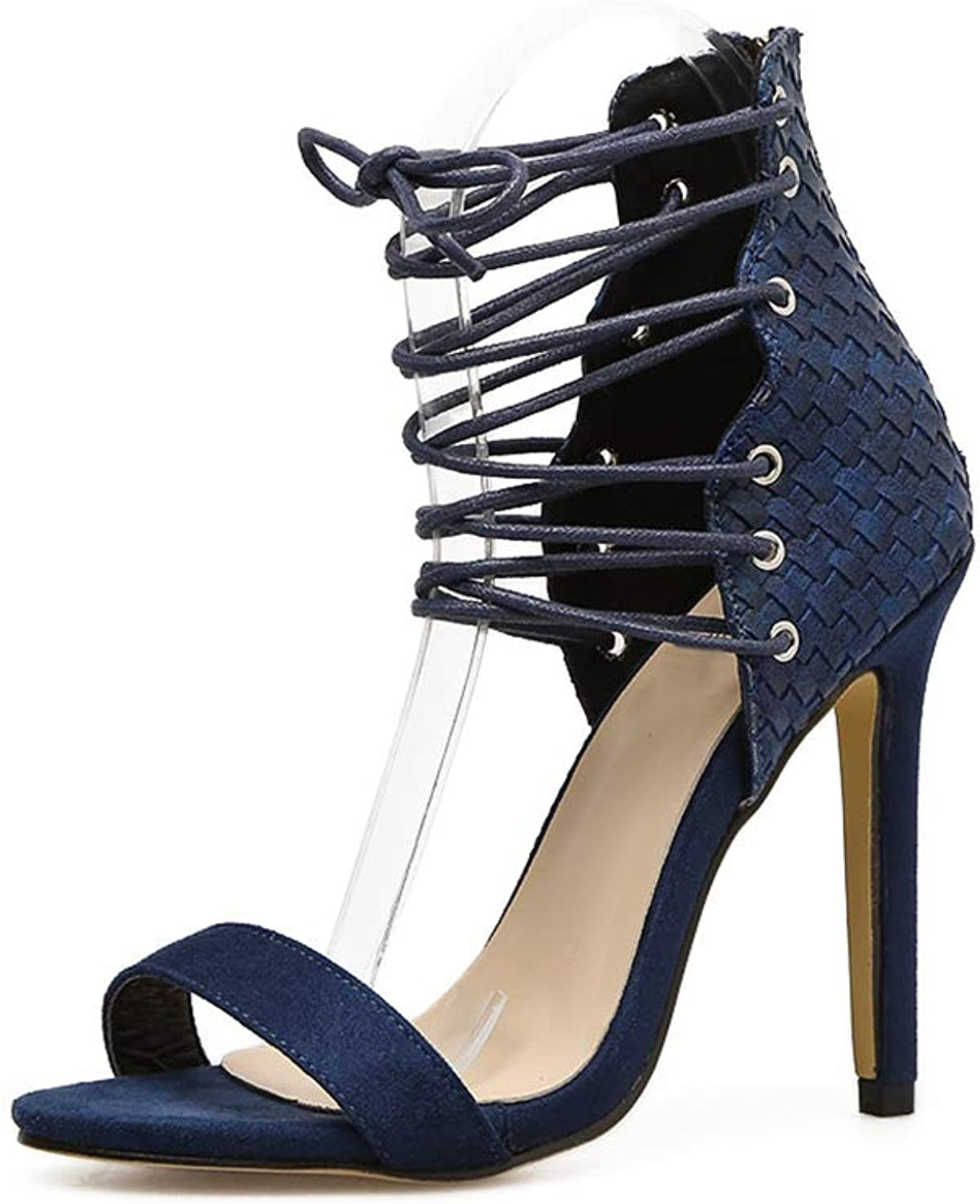 Kyle Walsh Pa Women Sexy Sandals Lace-up Stiletto Peep Toe Female Stylish Pumps shoes