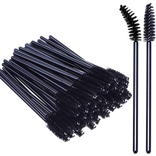 Lot de 50 brosses à cils, baguettes de mascara pour extensions de cils et outils de levage (Noir)