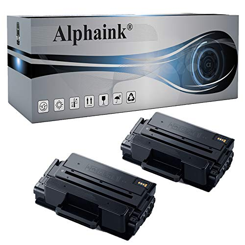 Alphaink 2 Toner compatibili con MLT-D205L per stampanti Samsung ML-3300 Series 3310 3312ND 3710DW 3712DW SCX 4833FR 5737 5739FW (2 Toner)
