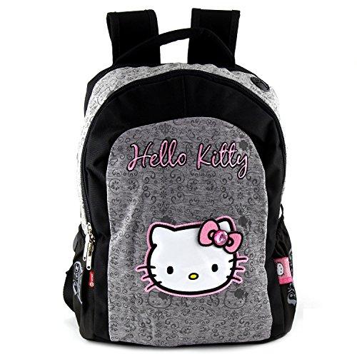 Hello Kitty Kinder-Rucksack, Grau/Schwarz