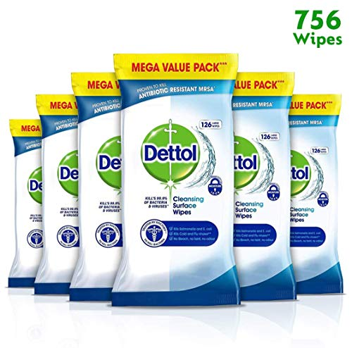 Dettol, toallitas anti-bacterianas limpiar superficie