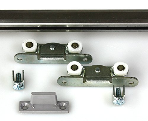Mantion Schiebetürbeschlag MEDIUM A-200 cm flach und schmal für 1 Möbeltür