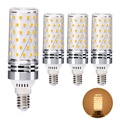 Yuiip E14 Led Lampen, 8W 800LM Warmweiß LED statt 60W Glühlampe, Nicht dimmbar AC 220-240V Kein Flackern, 4er-Pack