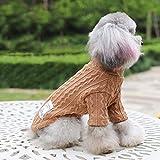 RTEAQ Ropa Mascotas Pet Dog Sweater Winter 13 Tipos Ropa para Perros Sweaters para Perros pequeños Dachshund Puppy Cat Pullover Jersey de Punto Jerseys Perro 376