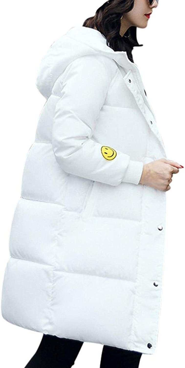 Aurorax Women's Long Sleeve Soft Winter Warm Coat Cotton Hoodie Hooded Slim Long Coat Outwear Overcoat