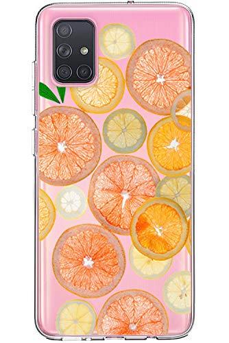 Carcasa transparente compatible con Samsung Galaxy S20, de silicona TPU, diseño creativo de flores y frutas, para Galaxy S20 Beige J.