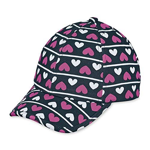 Sterntaler Baseball-Cap für Mädchen mit Größenregulierung und Herz-/Streifenmuster, Alter: ab 7 Jahre, Größe: 57, Blau (Marine)