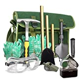 Rock Hounding & Gem Mining Geology Tool Kit (12-Pc Rock Prospecting Set) w/Rock