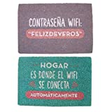 Vidal Regalos Felpudo Antideslizante 40x70 cm WiFi x2 Modelos