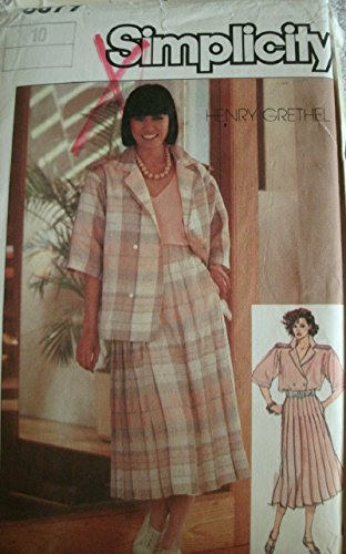 Misses Skirt, Shirt and Camisole Size 10 Henry Grethel Collection for Simplicity Pattern 6879