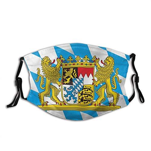 Bayern mit Löwenflagge Bayerische Löwenkammflaggen Staubwaschbarer wiederverwendbarer Filter und wiederverwendbarer Mund Warme Winddichte Gesichtsdekoration