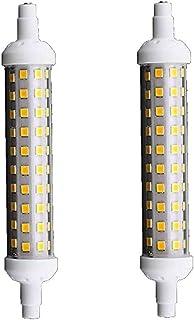 Universo Bombilla LED SMD R7s 10 W Lámpara para Faros Delanteros de luz blanca 6500 K 220 V [2 unidades]