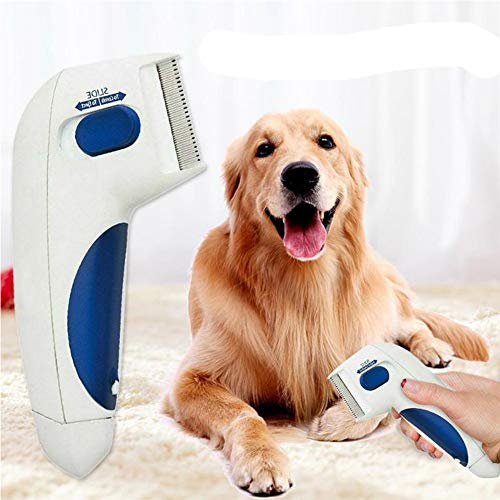 JUILE YUAN Pet Flea Comb - Flea Doctor As Seen On TV Perfect for Dogs and Cats No Batteries and Chemicals