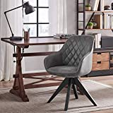 Art Leon Mid-Century Modern Faux Leather Upholstered...