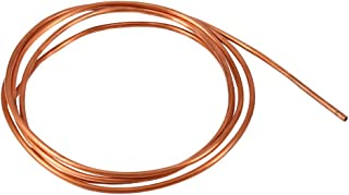 Walfront 2M Soft Refrigeration Copper Tubing 4mm x ID 3mm for Refrigeration Plumbing