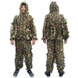 IMIFUN Hunting Clothes New 3D Maple Leaf Bionic Woodland Camo Ghillie Suits Sniper