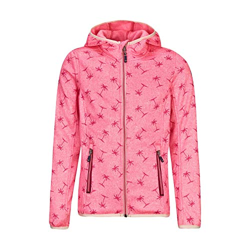 Killtec Mädchen Fleecejacke Belitha Allover Jr 34684 Coral Pink 152