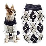 REYOK Maglione per Animali Domestici per Cani, Vestiti di Maglioni per Gatti Caldi, Vestiti Comodi per Cuccioli di Cuccioli(Blu)