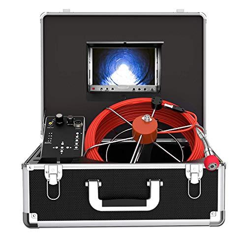 Telecamera per Ispezione Tubi con Contatore di Distanza, 30M DVR Telecamera per Fognatura IP68 Impermeabile Endoscopio a Tubo Videocamera di Ispezione del Tubo di Scarico Rilevatore di Tubi