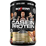 Six Star Elite Series Casein Protein Powder, Slow-Digesting Micellar Casein Protein for Extended Amino Acids Release, Chocolate, 26 Servings (2lbs)(Packaging May Vary)