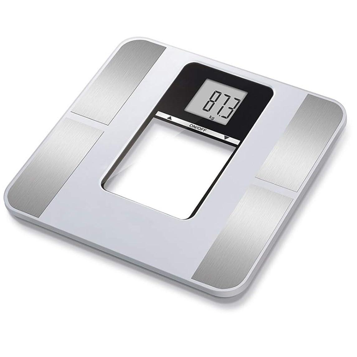 驚前置詞薄暗いデジタル天びんスケール ブルートゥーススマートアプリデジタル体重脂肪浴室スケール大トップバックライト付き液晶画面最大180キログラム体組成アナライザスケールIOSとアンドロイド
