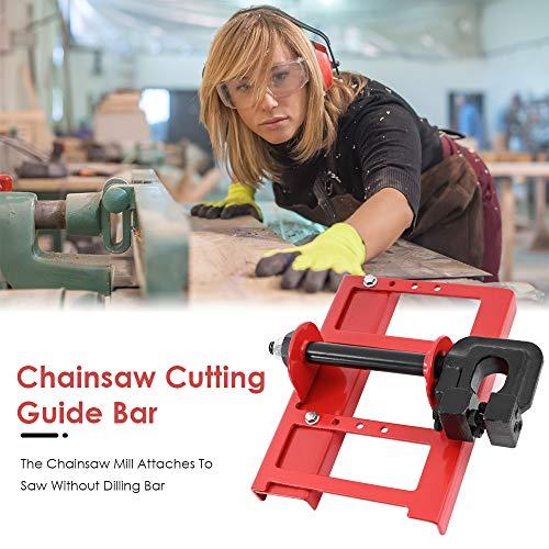 ETE ETMATE Mini Mill Chainsaw Mill Lumber Cutting Vertical Lumber Cutting Guide Bar Chainsaw Attachment Cut Guided Mill Wood
